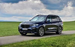 Обои BMW Металлик CUV Синий X7, G07, M50i автомобиль