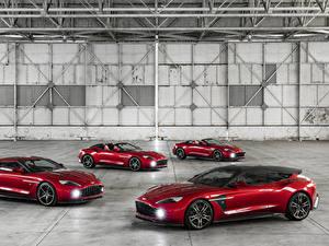 Картинка Астон мартин Красных Металлик Бордовая 2016-18 Vanquish Zagato Автомобили