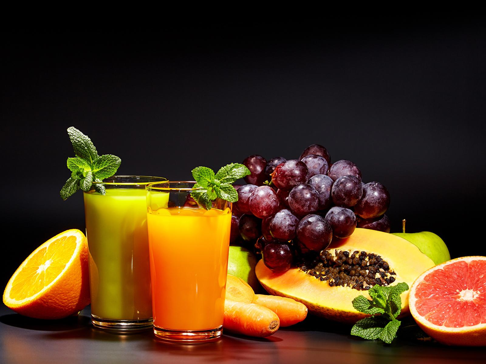 Обои апельсин, цитрусы, виноград, напиток, сок. Еда foto 8