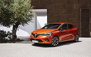 Картинки Рено Оранжевая 2019 Clio Worldwide автомобиль