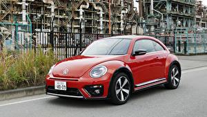 Картинка Фольксваген Красный Металлик 2016-19 Beetle R-Line Автомобили