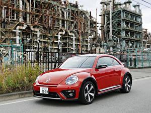 Картинка Фольксваген Красный Металлик 2016-19 Beetle R-Line Авто