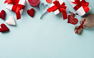 Фото День святого Валентина Подарков Сердечко Шаблон поздравительной открытки