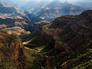 Фото Штаты Гранд-Каньон парк Парки Горы Каньона Природа