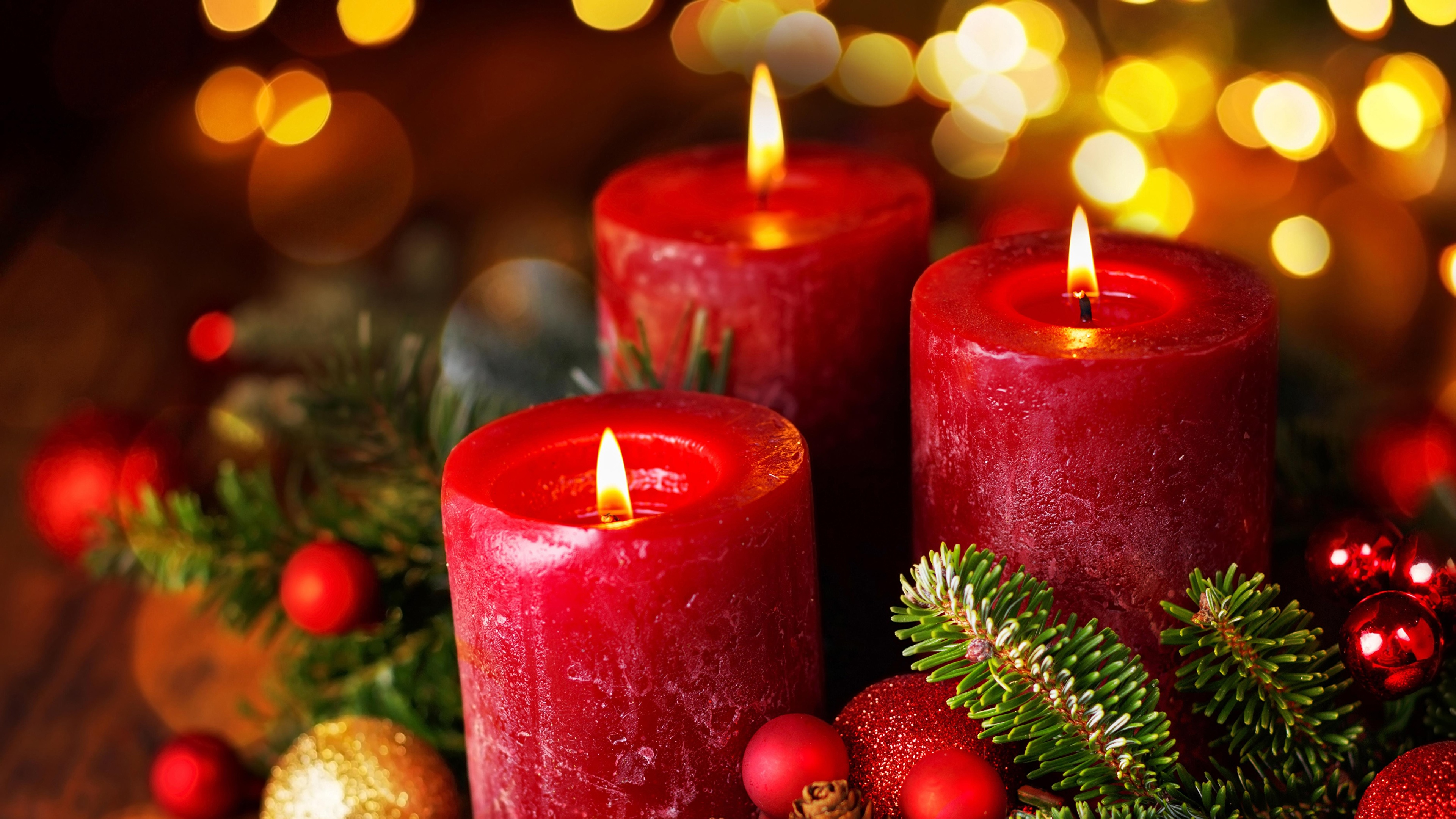 новый год, отражение, свечи, огни на телефон