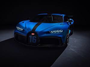 Обои BUGATTI Синий Металлик Chiron, 2020, Pur Sport автомобиль