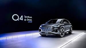Картинки Ауди CUV Металлик Audi Q4 Sportback e-tron Concept, 2020 машина