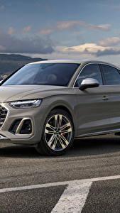 Обои для рабочего стола Audi Кроссовер Серый Металлик SQ5 Sportback TDI, 2020 машина