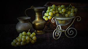 Картинки Виноград Кувшины Продукты питания