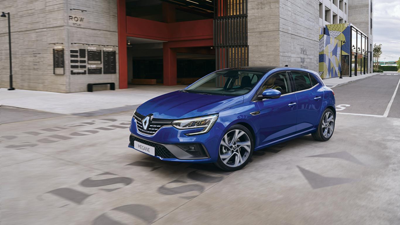 Фотографии Рено 2020 Mégane R.S. Line Worldwide синие авто Металлик 1366x768 Renault синяя Синий синих машина машины Автомобили автомобиль
