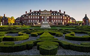 Фото Германия Ландшафтный дизайн Памятники Дворец Кустов Palace of Nordkirchen