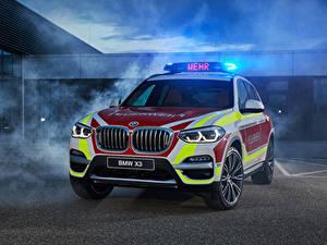Фотографии БМВ Тюнинг 2018 X3 xDrive20d Feuerwehr Автомобили