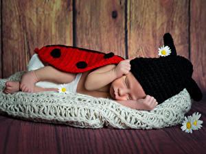 Картинки Доски Стена Младенец Шапки Спящий