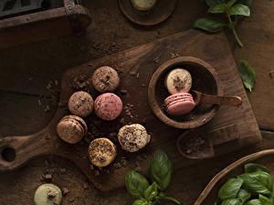 Фото Шоколад Разделочной доске Макарон Пища