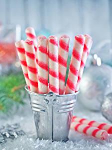 Фото Рождество Сладости Конфеты Ведро