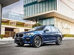 Обои BMW Синий Металлик CUV X 3M, G08 Автомобили