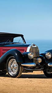 Картинки BUGATTI Старинные Стайлинг Синий 1939 Type 57S Drophead Coupe by Letourneur - Marchand Авто