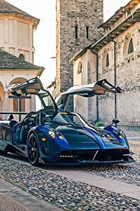 Обои для рабочего стола Pagani Синий Металлик 2016-17 Huayra BC авто