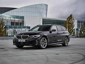 Фото БМВ Универсал Серый 2019 M340i xDrive Touring Worldwide Автомобили