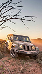 Обои Jeep Серый 2016 Wrangler Unlimited  75th Anniversary авто