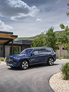 Картинка Mercedes-Benz Синих Металлик 2020 GLS 450 4MATIC авто