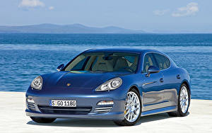 Картинки Порше Синий Металлик Panamera 4S, Worldwide, 970 Автомобили
