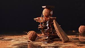 Обои для рабочего стола Шоколад Конфеты Мед Какао порошок Еда