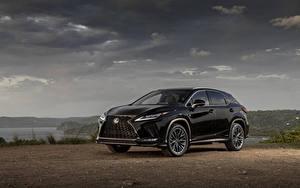 Картинка Лексус Черных Металлик 2020 RX 450h F SPORT Автомобили