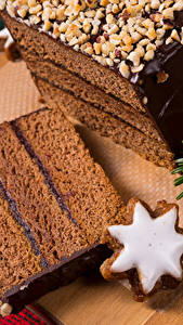 Картинка Новый год Выпечка Печенье Шоколад Торты Кусок Пища