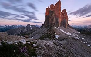 Фото Горы Италия Утес Dolomites