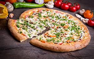 Обои Пицца Сыры Кусок