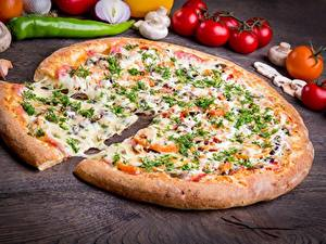 Обои Пицца Сыры Кусок Пища