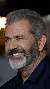Картинки Mel Gibson Улыбка Бородатый Старые Знаменитости