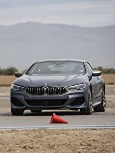 Обои для рабочего стола BMW Серый 2018 8-Series 2019 M850i xDrive 8er G15 Автомобили