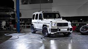 Картинка Мерседес бенц G-класс Белые SUV 2019 Urban Automotive AMG G 63