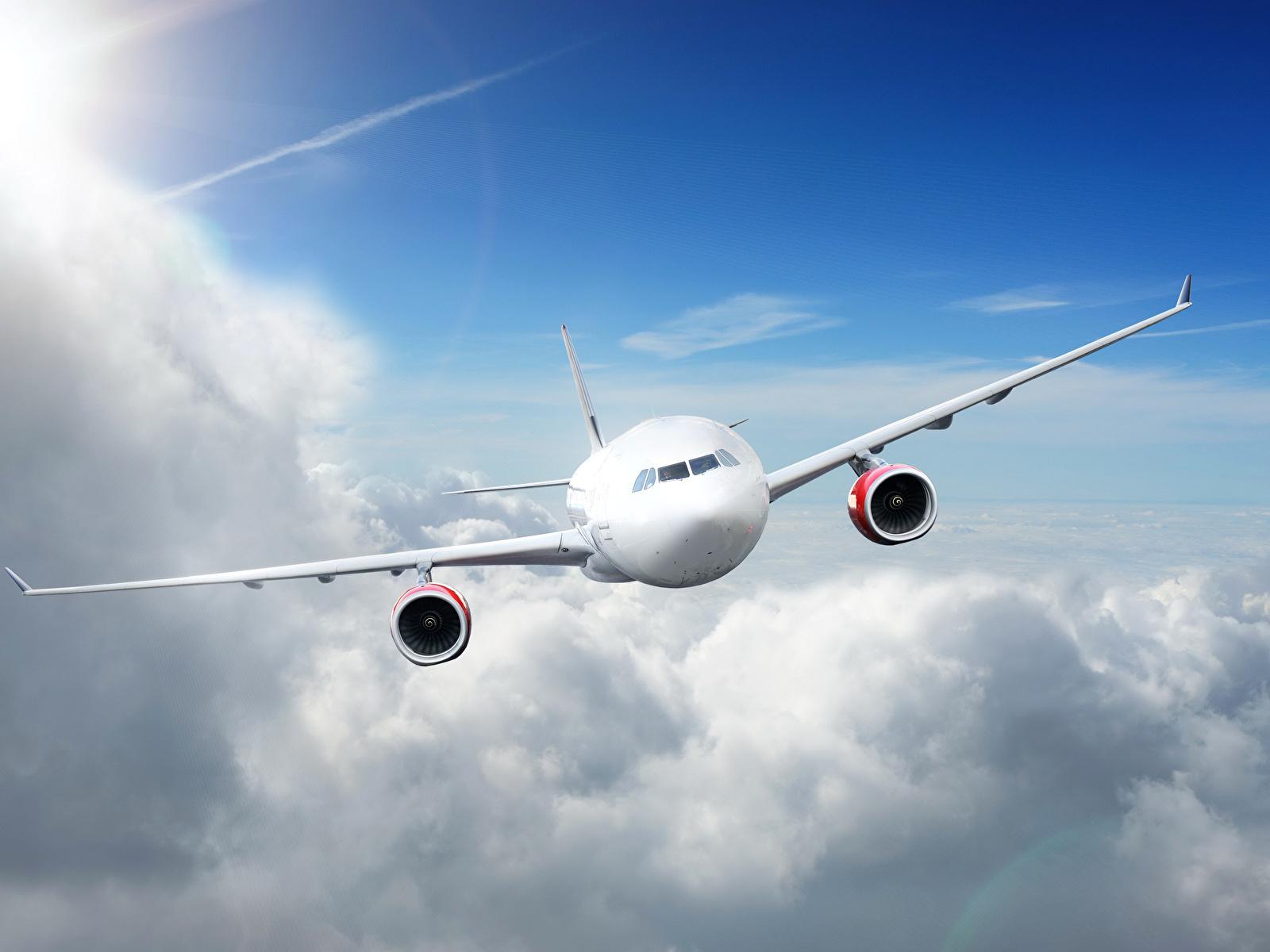 Обои Airplane, sky. Авиация foto 19