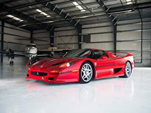 Картинки Феррари Винтаж Красный Металлик 1995 F50 Pininfarina