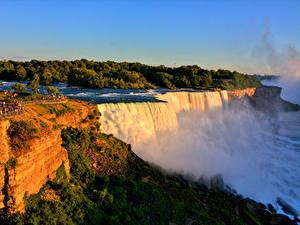 Фотографии Штаты Водопады Нью-Йорк Скала Niagara Falls