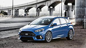 Обои Форд Голубой Focus