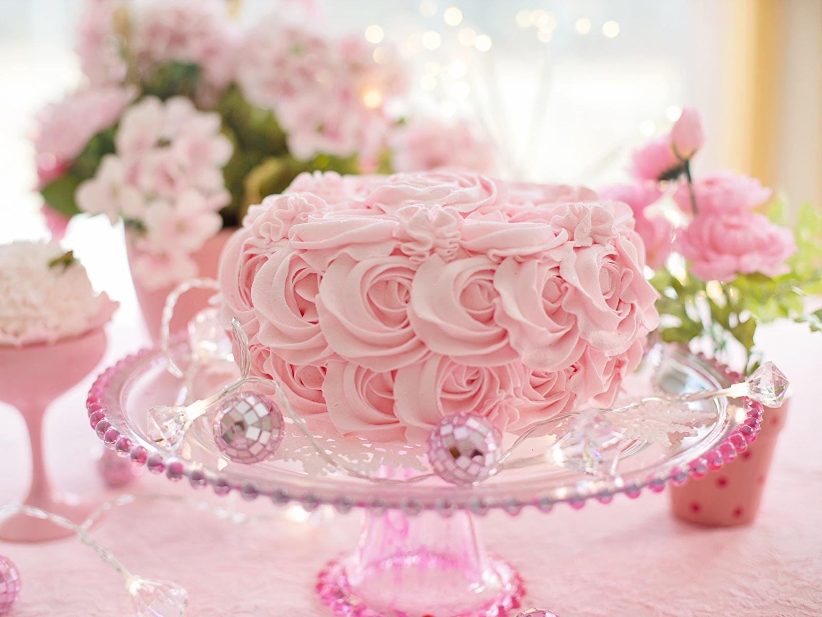 Картинки Торты розовых Еда Дизайн 1600x1200 Розовый розовые розовая Пища Продукты питания дизайна
