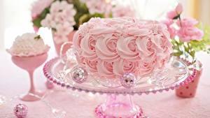 Картинки Торты Розовый Дизайн