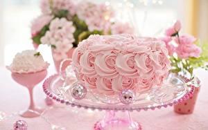 Картинки Торты Розовый Дизайн Еда