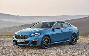 Фотографии BMW Голубой Купе 2020 M235i xDrive Gran Coupé Worldwide машины