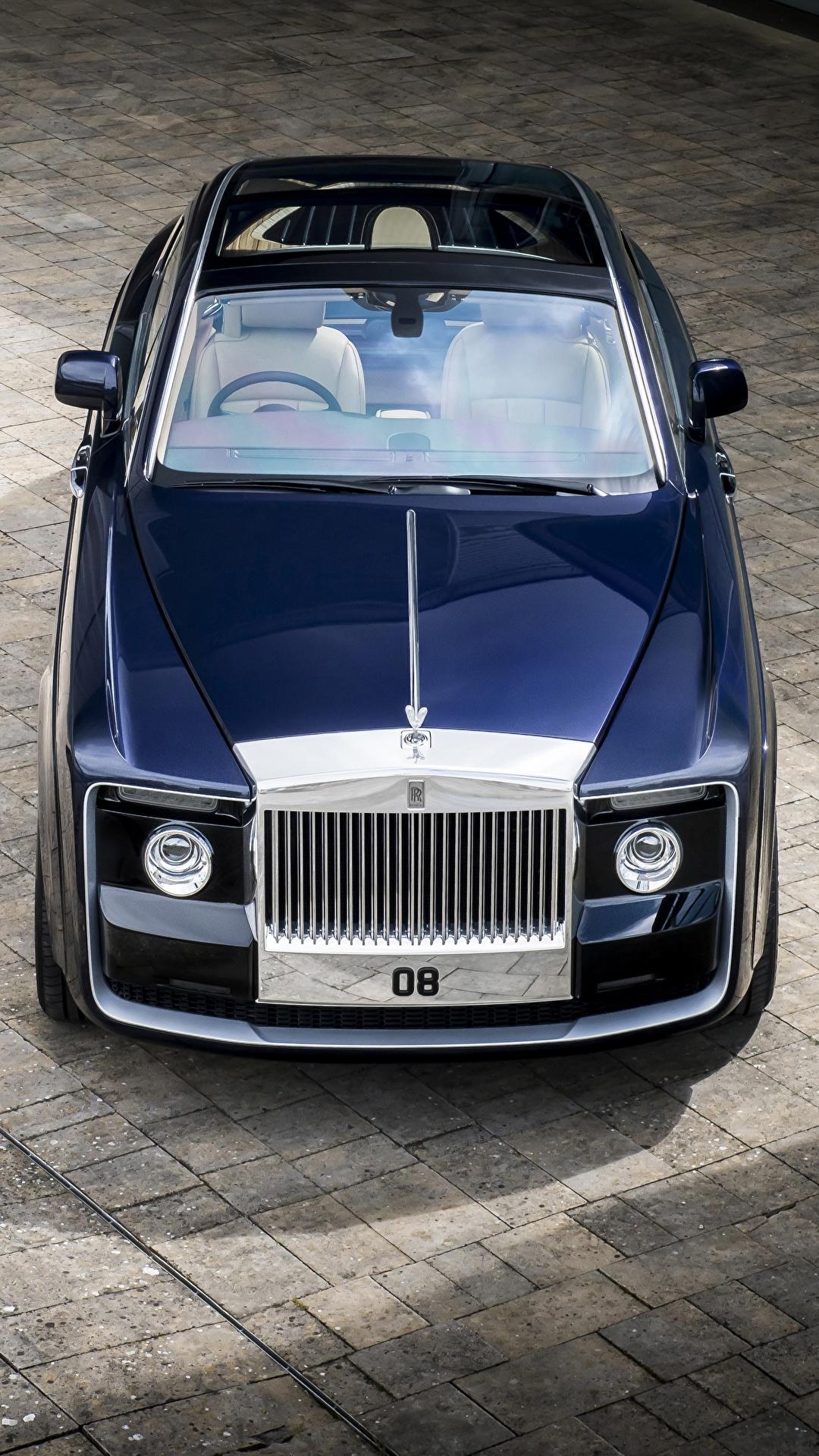 Фото Rolls-Royce 2017 Sweptail Синий Сверху Металлик автомобиль 1080x1920 Роллс ройс синих синие синяя авто машина машины Автомобили