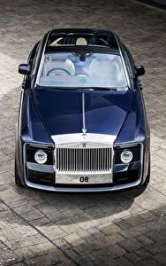Фото Rolls-Royce Синий Металлик Сверху 2017 Sweptail Авто