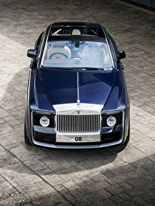 Фото Rolls-Royce Синий Металлик Сверху 2017 Sweptail машины