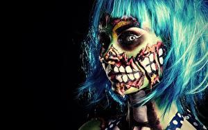 Обои Зомби Макияж Девушки
