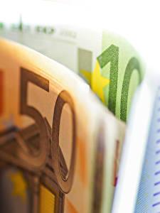 Фото Деньги Банкноты Крупным планом Евро 50 10