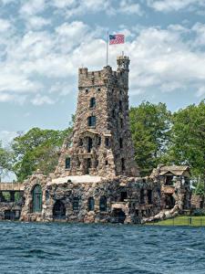 Фото США Побережье Дома Небо Дизайна Thousand Islands Города