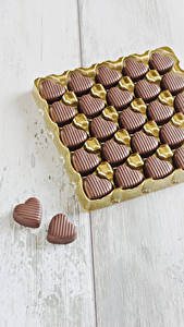 Фотография День святого Валентина Сладости Конфеты Шоколад Сердца Еда